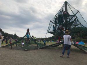 相模原麻溝公園 網のアスレチック 広場内