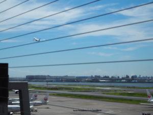羽田空港 第二ターミナル 展望デッキ 離陸風景