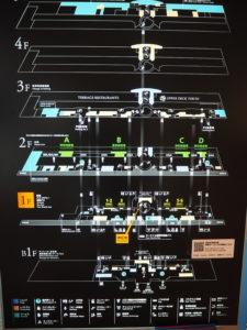 羽田空港 第一ターミナル 館内図