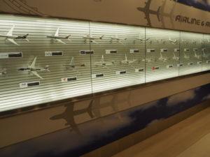 羽田空港 国際線旅客ターミナル 飛行機の模型 展示