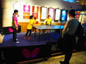 キツザニア東京 卓球体験 期間限定