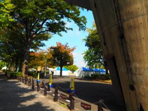 山下公園 駐車場近くの入り口