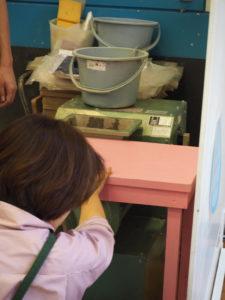 親子のフリーゾーン 土粘土 こね直す機械