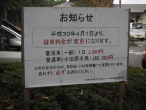 小田原わんぱくらんど 駐車場 値上げ