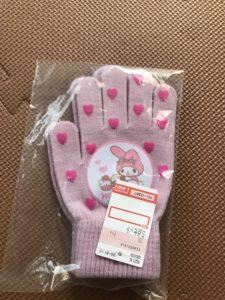 手袋 マイメロ