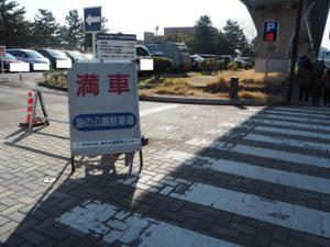 海の公園駐車場 満車