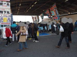 金沢漁港 海産物フェスタ 会場様子