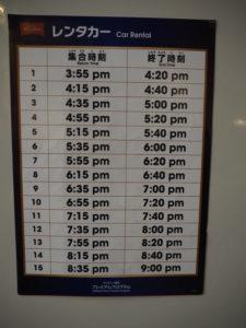 キッザニア東京 シラバスプログラム レンタカー