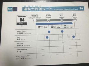 キッザニア東京 地下鉄 評価シート